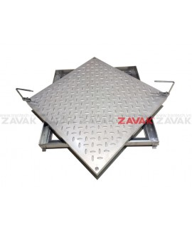 [ZAVAK] Nắp bể âm sàn MH-T 50 (bề mặt sần inox 304)
